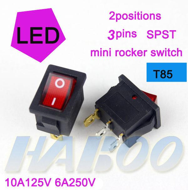 Кулисный переключатель HABOO T85 100pcs/lot /3pins 2positions HB1-206