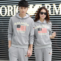 Fashion Lovers suit  2014 spring and summer new  suit lovers of High quality casual couple 4 color sets wholesale