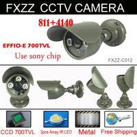 "Free shipping 1/3"" Sony Effio-e 700TVL CCTV Camera 960H 3pcs Array IR LEDS outdoor indoor waterproof Security with bracket"