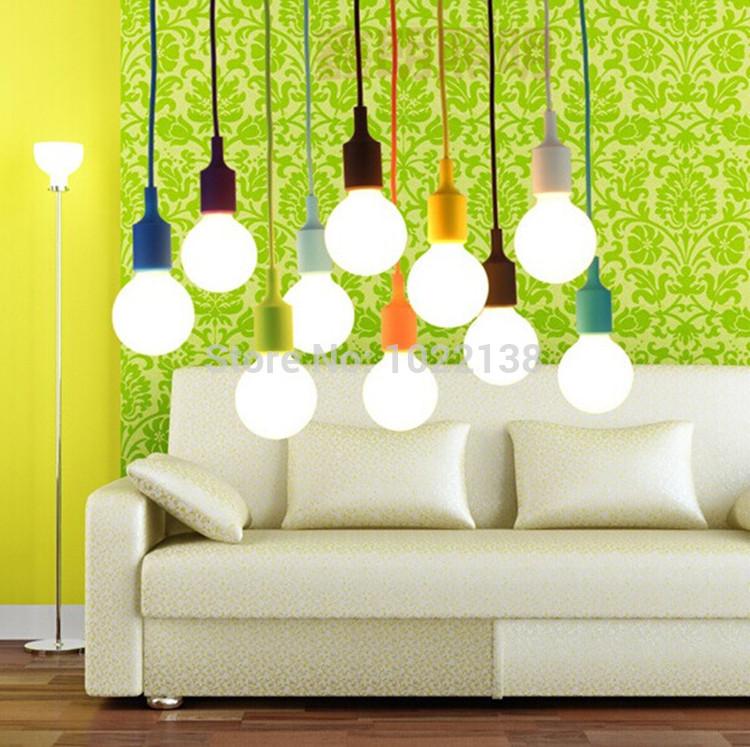 Colorful Pendant Lamp Modern Vintage Edison Bulbs Bar Restaurant Bedrooms Large Shopping mall Muuto E27 Art Pendant Lights(China (Mainland))