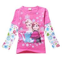 1pcs Frozen Sweatshirts Elsa Anna costume princess children hoody for Girls Wear Hoody New brand children sweater &  coats