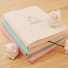 2015 Cute Kawaii Cartoon Molang Rabbit Journal Notebook Diary Planner Notepad for Kids Gift Korean Stationery Free shipping 071(China (Mainland))