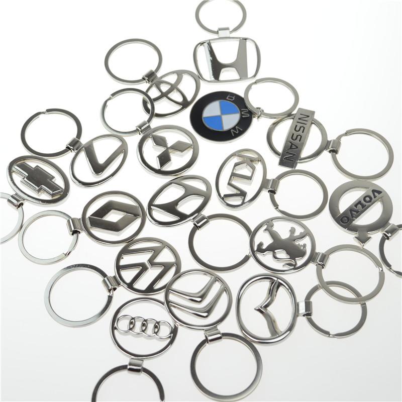 3d metal alloy cutout car logo keychain - for volvo audi Citroen key chain Llaveros chaveiro(China (Mainland))
