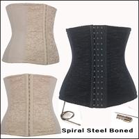 Sexy Women Bodysuit Steampunk Corset Top Steel Boned  Waist Training Corsets And Bustiers Plus Size Women Corpete Corselet