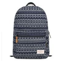 "Bohemian style totem Canvas fabric women backpacks travel bag school bag mochila feminina 15"" laptop 42*31cm"