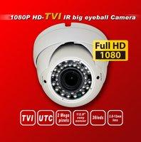 Free shipping HD TVI 1080P 1/2.8''Sony Exmor Sensor security TVI camera 36IR 2M 2.8-12MM Lens  UTC HD-TVI dome cctv camera white