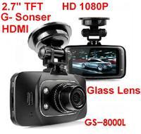 GS8000L 2.7 inch HDMI Car DVR Camera Video Recorder Novatek chipset HD 1920*1080P G-Sensor Night Vision car dvr Dash Cam Video
