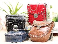 Top Sale 2015 New Design Trend Of Fashion Women Messenger Bags Crocodile Pattern PU Leather  Women Shoulder Bags RT0372