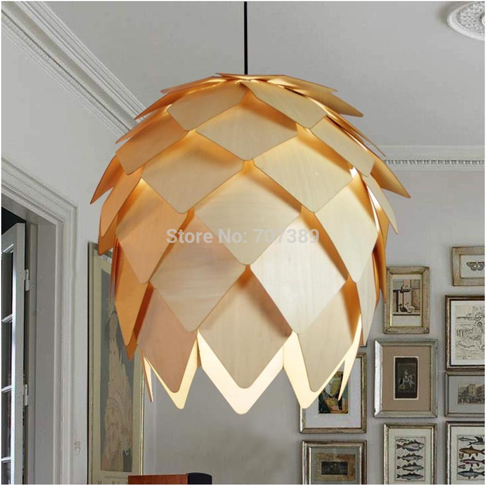 Decorative Environmental DIY/Assembled Type Natural Basswood Norm 69 Pineapple/Pinecone/Pinenut Pendant Light/Lamp,E27 Lampbase.(China (Mainland))