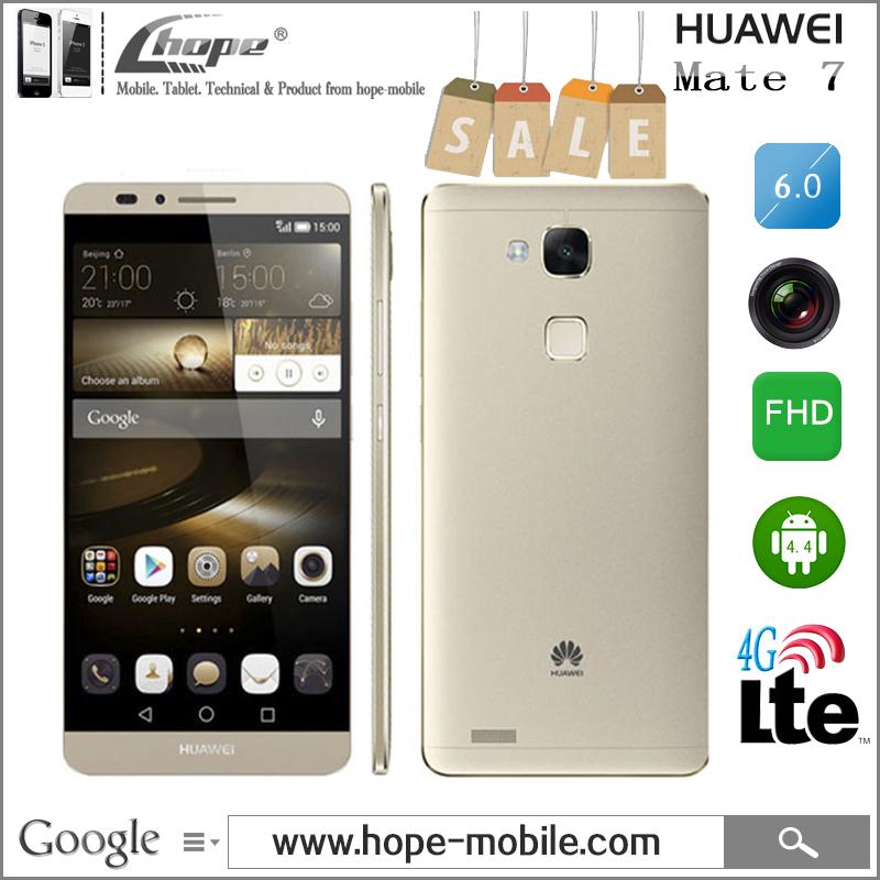Original Huawei Ascend Mate 7 Kirin 925 Octa Core 6'' FHD 4G LTE Cell Phone Android 4.4 3G RAM 32GB ROM NFC Fingerprint DHL Free(China (Mainland))