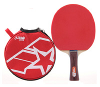 Free Shipping 100% Original Brand New DHS 1 Star Pimples In Horizontal Grip Table Tennis Racket Paddle Bat EDStore_TTR01