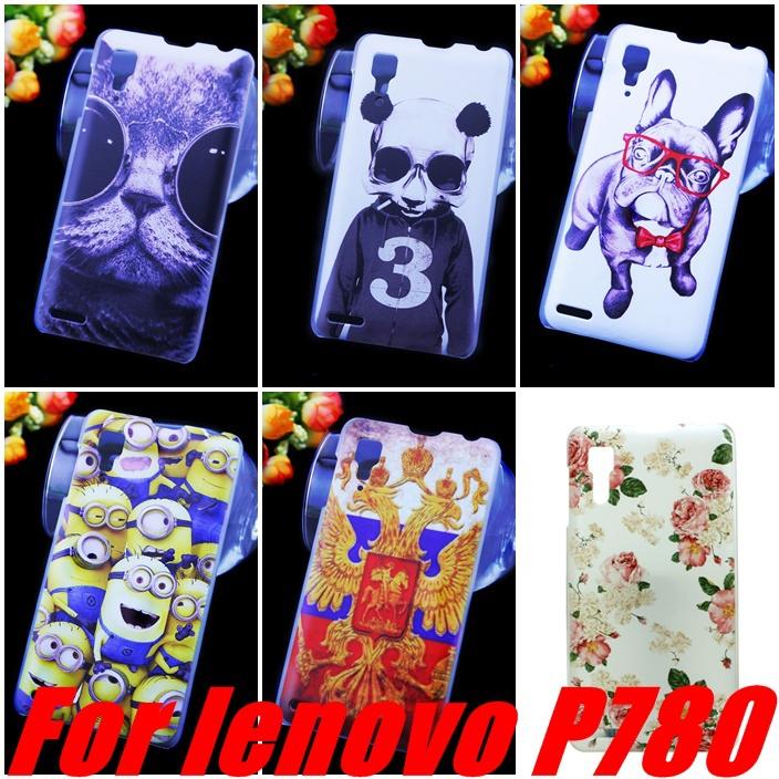 100% New 9 Pattern Lenovo P780 Har Case Black In Stock Lenovo P780 Cell Phoens Case +capa(China (Mainland))