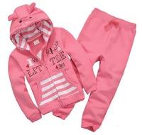 Boy's Winter Fleece Fabric Sports Sets Girl's Thick Suits, 6 Sizes/lot for 1-6 years - JBFS04/JBFS09/JBFS10/JBFS11/JBFS12/JBFS13