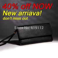 New arrival!Fashion Women Leather Wallets Zipper Day Clutch Purse Wristlet Handbags Carteira Feminina Free shipping