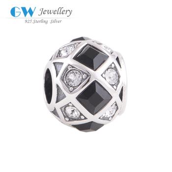 Стеклянные бусины большая дыра бусины кристалл 925 стерлингового серебра хрустальный ...