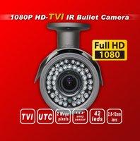 Free shipping HD TVI 1080P 1/2.8 Sony Exmor Sensor security TVI camera 42IR 2.8-12MM 2M lens UTC HD-TVI bullet cctv camera gray