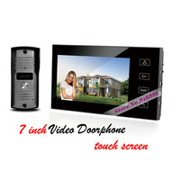7 inch Touch screen Video doorphone Doorbell Home Security Intercom System 700TVl IR Cameras with Waterproof Cover