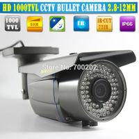 HD 1000 TVL Video Security Camera HD 1200 tvl IR CCTV Bullet Camera with 2.8-12MM Lens 72IR Vandalproof, Super Night vision