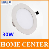30W CREE LED Recessed Ceiling Led Panel Lights Bulb with driver Round free shipping with tracking number for dropship