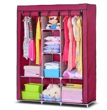 Clothe storage wardrobe brand new simple clothe wardrobe fashion sundries storage closet portable clothe storage cabinet(China (Mainland))
