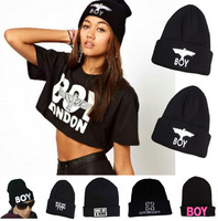 Promotion!! 2014 Brand New Fashion Hip Hop BOY LONDON  Wool Winter Men and Women Beanies and Skullies Hats- Muti Colors