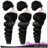 Free Shipping Cheap Natural Black Hair 10pcs Grade 6a Virgin Hair Loose Wave Malaysian Hair Weft