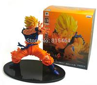 Battle State Goku Sun Super Saiyan action figure toys,Dragon Ball Z DBZ anime PVC 17cm 6.63 inch collection model Toy Figures