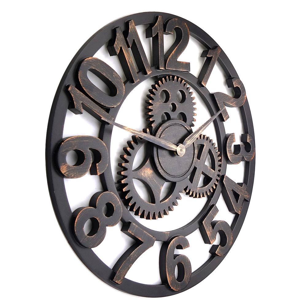 Pin Large Decorative Wall Clocks Fashion Black Cd Film