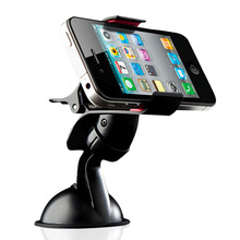 Car Windshield Stand Mount Holder Bracket for Iphone 4/4s/5/5s/6/6 plus mobile phone/GPS/MP4 Rotating 360 Degree