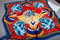 Luxury Twill 100% Square Silk Scarf 90x90cm Designer Silk Scarves Desigual Women Scarves Spain Brand Pure Silk Scarfs SF0164