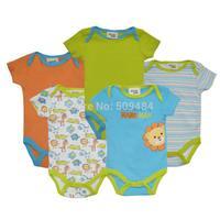 12 Style 5pcs/lot Baby Bodysuits Spring Babies Newborn Cotton Body Baby short Sleeve Next Infant Bebe Boy & Girl Clothes