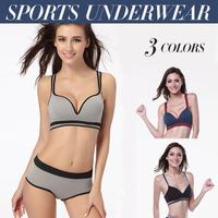 50 Plus Size Women Sexy Elastic Seamless Y-Line Strap Sports Yoga Padded Bra Leisure Push Up Bra Underwear #ZFC281