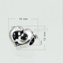 NEW Free Shipping 10 Pcs Silver Bead Charm European Silver Dolphin Bead Fit Pandora BIAGI Bracelets