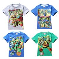 New Childrens T Shirts Boys Tee Shirts Fit3-10Yrs Kids T Shirt Cartoon Novelty Regular O-Neck Cotton 2014 New Free Shipping 8071