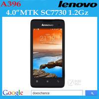 Original Lenovo A396 Quad Core 3G WCDMA Dual Sim 4 inch Android 1.2GHZ Bluetooth Russian Language Free shipping