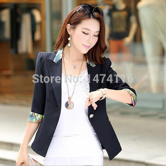 2015 Spring - Autumn New Fashion Brand Women's Slim Candy black/red/blue Color Whith One Button Blazer Jacket Suits For Women(China (Mainland))