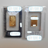 Mixed Bars -1 Oz, 10 g, 5 g, 2.5 g Gold Bar & 10 g Silver Bar (NON-MAGNETIC) in SEALED PACKAGE (12pcs/lot)