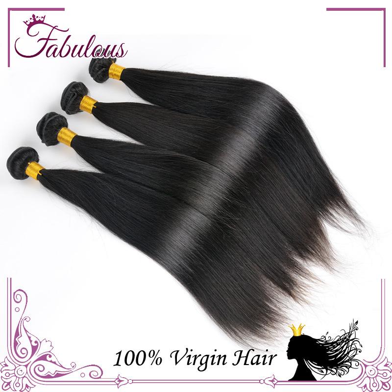 7A Unprocessed Virgin Hair, Cheap Virgin Brazilian Straight Hair Weaves 3pcs lot Straight Brazillian Virgin Human Hair(China (Mainland))