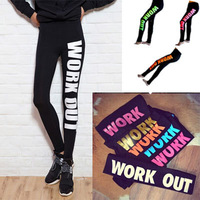Winter Women leggings 2014 New fashion letter printed leggings Harajuku Sexy leggings pants adventure time sportwear leggings
