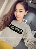 New 2014 Fashion Brand Casual Women Hoody Sweatshirt  Letter Printed T Shirt  Hoodies Sport Suit Women Pullover Plus Size