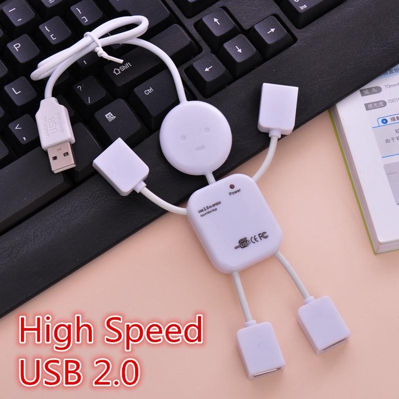 High Speed Humanoid Splitter Usb Hub 4 Port For PC Usb 2.0 Socket(China (Mainland))