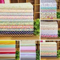 65 Assorted Pre-Cut Twill Cotton Quality Quilt Fabric Fat Quarter Tissue Bundle Floarl, Check Plaid, Polka Dot, 45x45cm