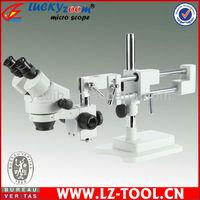 FREE SHIPPING ! 3.5x-45x, Double Boom Stand Microscope, Stereo Zoom Binocular Microscope+ 64LED