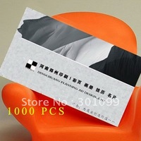 Free Shipping (1000pcs/lot ) 300gsm Art Paper Card Offset Printing Business Card Matt Film Coated