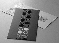 Free Shipping (1000pcs/lot) 2 Sided Spot UV Business card Printing