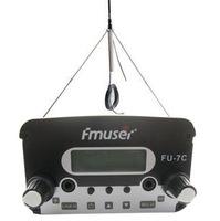 7W CZH-7C CZE-7C -FU-7C  FM stereo PLL broadcast transmitter 76MHz-108MHz + GP100 Antenna + Powersupply Kit cover 1KM-2.5KM