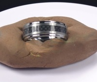 Free Shipment! 8mm  Tungsten carbide ring with carbon fibre,