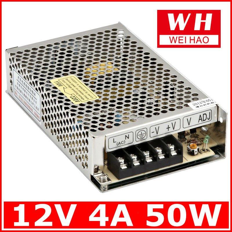 ( s- 50- 12) 50w nouveau style led d'alimentation pour 3528/5050 led strip/12v 4.2a alimentation conduit