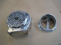 Free Shipping Scooter Chrome Fan Cover with Cap GY6 125cc 150cc Moped QMJ152/157 QMI152/157 4-stroke  @70031
