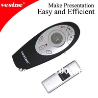 Free shipping* RF 2.4g wireless presenter with trackball mouse 1pc  vp1000 wholesale&retail for best company gift